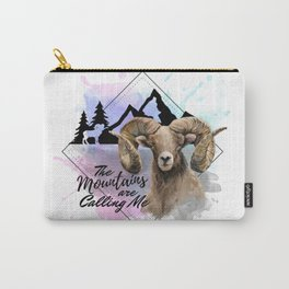 The Mountains Are Calling Me In Pink,Purple And Blue Carry-All Pouch