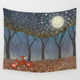 sleepy foxes Wall Tapestry