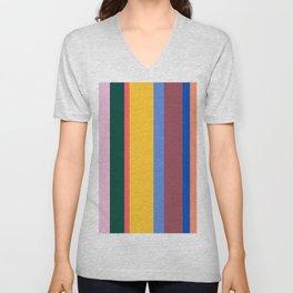 Mod Stripes Unisex V-Neck