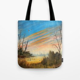 Evening Duck Hunters Tote Bag