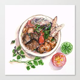 """Bun rieu"" - Noodle with freshwater crab Canvas Print"