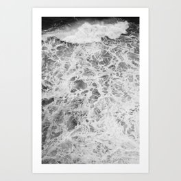 The Waves (Black and White) Art Print