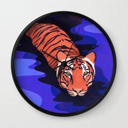 Tiger water Wall Clock