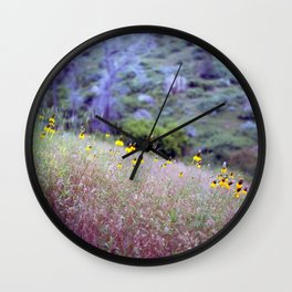 montana yellow Wall Clock