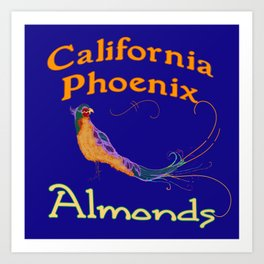 California Phoenix Almonds Art Print