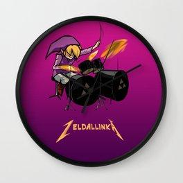 Zelda llinka - Purple Link Wall Clock