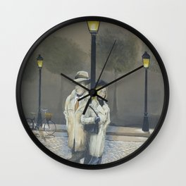 Midnight in Paris Wall Clock