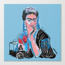 FRIDA Blue Canvas Print