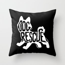Rescue Dog Shelter Throw Pillow
