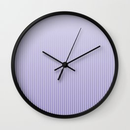 Basic stripes pattern - lilac. Wall Clock