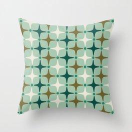 Mid Century Modern Star Pattern 579 Throw Pillow