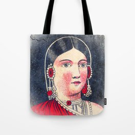 Vintage Matchbox Lady Tote Bag