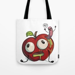 Apple and worm BFF Tote Bag