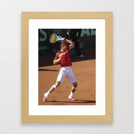 Nadal en Copa Davis  Framed Art Print