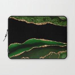Emerald Marble Glamour Landscapes Laptop Sleeve