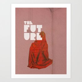 The future a time to reminisce. (mixed media) Art Print