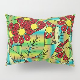 Foliage and flowers Pillow Sham