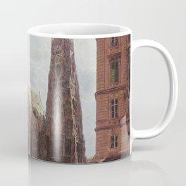 View Of The Stephansdom From Stock Im Eisen Platz 1832 by Rudolf von Alt   Reproduction Coffee Mug