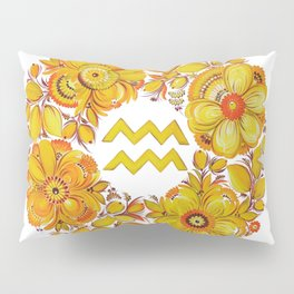 Aquarius in Petrykivka style (without artist's signature/date) Pillow Sham
