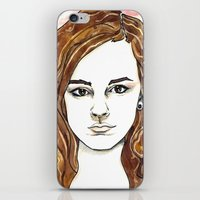 hermione iPhone & iPod Skins featuring Hermione Granger by Boni Dutch