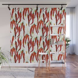 red chili pepper watercolor Wall Mural