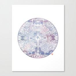 deer mandala (white) Canvas Print