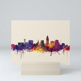 Lincoln Nebraska Skyline Mini Art Print