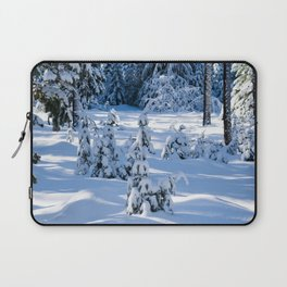 Snow Covered Trees Laptop Sleeve