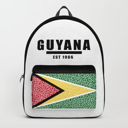 Guyana Flag | Est 1966 BLK Backpack