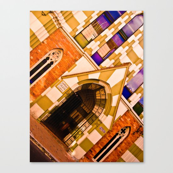 FRONT OF CHURCH Canvas Print