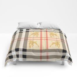 WEIMARANERS AND BEIGE PLAID Comforters