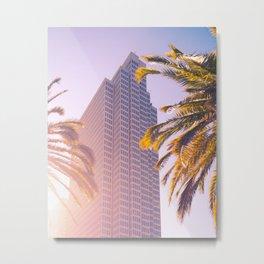 Embarcadero with Palms Metal Print