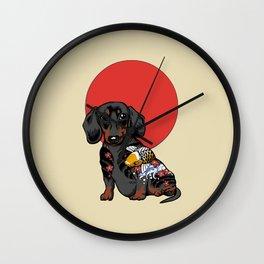 Yakuza Dachshund Wall Clock