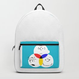 Charlie Brown, colour wheel Backpack