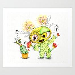 Creepy Cacto-Bee Art Print
