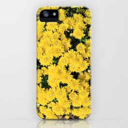 Bright Yellow Fall Mums iPhone Case