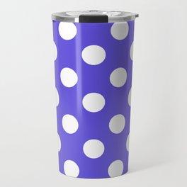 Majorelle blue - blue - White Polka Dots - Pois Pattern Travel Mug