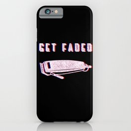 Get Faded Vintage Classic Barber Barbershop Barbering Tools Gift Idea iPhone Case
