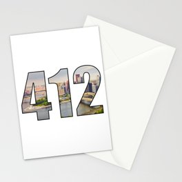 412 (Pittsburgh Area Code) Stationery Cards
