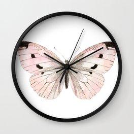Butterfly flutter - soft peach Wall Clock