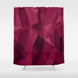 Polygon Crimson Shower Curtain