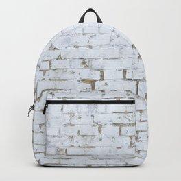 Vintage White Brick Wall Backpack