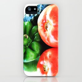 Colors of vegetables iPhone Case
