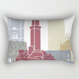 Genoa skyline poster Rectangular Pillow