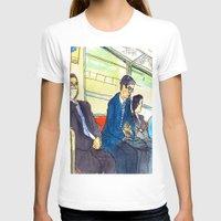 subway T-shirts featuring Tokyo subway by adi tsahor