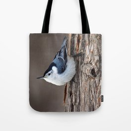 Upside Down Nuthatch Tote Bag