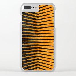 Yellow / Black - Geometric Clear iPhone Case