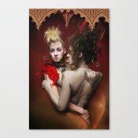 nan lawson Canvas Prints featuring HVH Nan by House Van Helsing