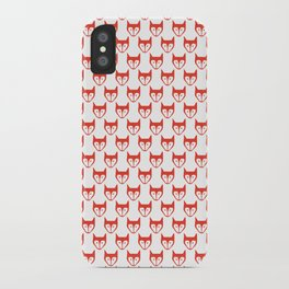 Red Fox Pattern iPhone Case
