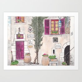 Alley in the French Riviera Art Print